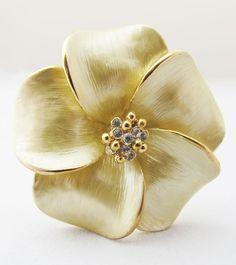Plumeria Decorative Jewel Pick in Gold | wedding decor bouquet accessories steampunk wedding only $6.49