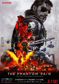 Hideo Kojima unveils new bad ass Metal Gear Solid V: The Phantom Pain poster by Pablo Uchida