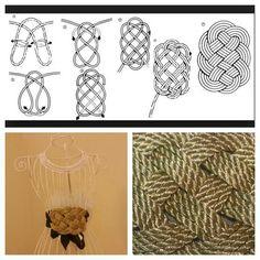 Nudo chino! Utilízalo en tus cinturones, diademas, pulseras... puedes ver más modelos en mi página de Facebook Pinky's DIY