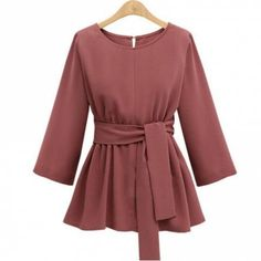 CUWHF 2018 Plus Size Chiffon Shirt Women Blouses Bow Peplum Top Blusas Mujer Autumn Women Blouse Femme - Best Picture For outfits autumn For Your Taste You are looking for something, and it is going to - Hijab Stile, Stylish Dresses For Girls, Mode Hijab, Chiffon Shirt, Muslim Fashion, Blouse Designs, Blouses For Women, Ideias Fashion, Fashion Outfits