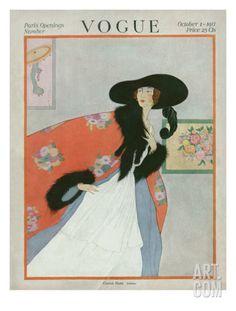 Vogue Cover - October 1917 Regular Giclee Print by Helen Dryden at Art.com