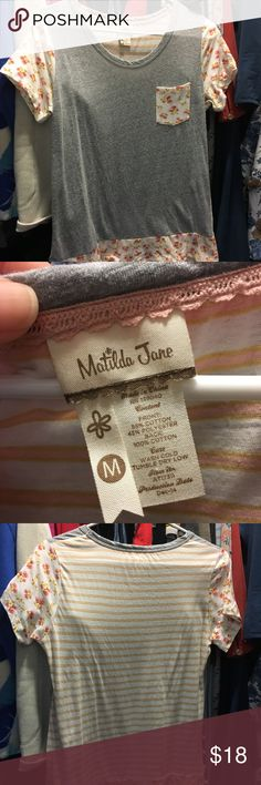 Matilda Jane Mix it up tee medium. EUC Matilda Jane Mix it up tee medium. EUC Matilda Jane Tops Tees - Short Sleeve