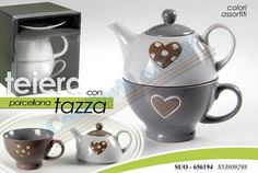 TEIRA + TAZZA PORC.CUORE vendita:8,00