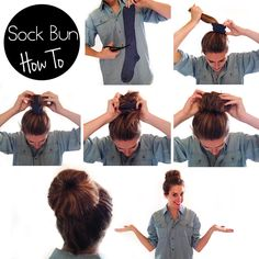 THE PERFECT SOCK BUN IN SIX EASY STEPS