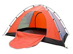 Generic Daily Family 4 Person Tent Orange -- Continue to the product at the image link.(This is an Amazon affiliate link)