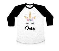 Unicorn Birthday - Unicorn First - Birthday Shirt - First Birthday - Birthday Outfit - Unicorn Shirt - Birthday - Baby Girl - Toddler First Birthday Shirts, Unicorn Birthday, First Birthdays, Trending Outfits, Tees, Mens Tops, Fashion, Fotografia, Moda