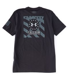 Under Armour Men/'s Charcoal Gray UA Freedom BFL Crew-Neck Short Sleeve T-Shirt