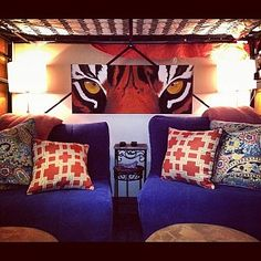 Check out this Clemson-themed residence hall room!