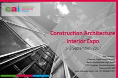 #CONSTRUCTION #ARCHITECTURE #INTERIOR #DESIGN #EVENTS #EXHIBITION 2017 CAI ( #Construction #Architecture & #Interior ) 2017 is the ideal opportunity for your organisation to access major developers, contractors, and clients procuring work. One can gain access to a competitve consturction boom across India! This is a Build & #Design #Exhibition of ingenious #designs and #construction facets. CAI brings to you and amalgamation of exquisitely informative collection of modern technologies and…