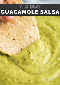 This Guacamole Salsa recipe combines salsa verde and guacamole to create an addicting appetizer and salsa for tacos! Made from tomatillos, jalapenos, avocados, cilantro and lime juice. #guacamolesalsa #salsa Keto Recipes, Vegetarian Recipes, Snack Recipes, Dinner Recipes, Cooking Recipes, Healthy Recipes, Delicious Recipes, Potato Recipes, Vegetable Recipes