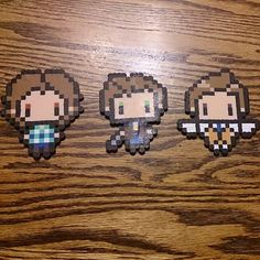 Supernatural (Sam, Dean and Castiel) perler beads by kandicorgi