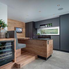 Küche & Essbereich Kitchen Room Design, Home Decor Kitchen, Kitchen Furniture, Furniture Design, Chalet Design, House Design, Luxury Interior, Interior Design, Sweet Home