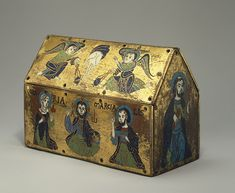Chasse of Champagnat, ca. 1150  French; Made in Limoges  Gilded copper and champlevé enamel