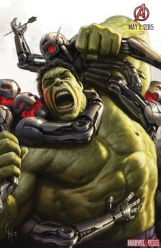 Hulk concept art from Marvel's Avengers: Age of Ultron by Charlie Wen