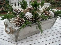 Spray pine cones with a little white spray paint to add a wintry touch!