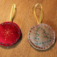 Sewn felt star ornament