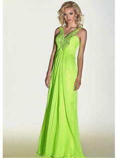 Alluring Chiffon Spaghetti Straps Neckline Floor-length Empire Formal Dress