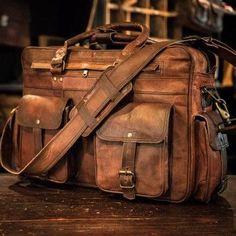 Leather Goods & Apparel for Men & Women | Buffalo Jackson Everett Vintage Leather Pilot Bag