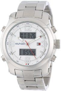 Tommy Hilfiger Men's 1790948 Cool Sport Analog-Digital and Stainless Steel Bracelet Watch: Watches: Amazon.com