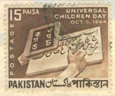 Universal Children Day Oct. 5 1964 #pakistan postage stamp
