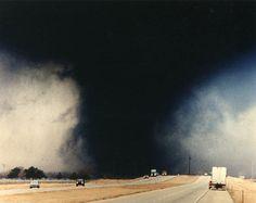 Kansas Tornado, black with debris
