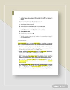 Juice Bar Business Plan Template - Word (DOC)   Google Docs   Apple (MAC) Pages   PDF   Template.net Business Plan Template Word, Google Docs, Word Doc, Letter Size, Business Planning, Cool Things To Make, Juice, Walking People, Pdf
