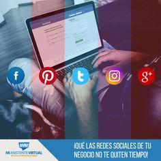 ¿Sientes que las redes sociales de tu negocio te quitan mucho tiempo? Recuerda que en Mi Asistente Virtual te podemos ayudar. Si deseas más información sobre nuestros planes para #emprendedores te invitamos a contactarnos: http://www.miasistentevirtual.biz/contacto/  #ServiciosMAV #MiAsistenteVirtual #Emprendedores #RedesSociales