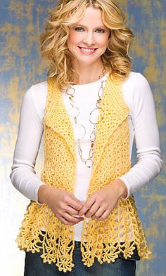 Free Crochet Pattern Lace Vest : 1000+ ideas about Crochet Vest Pattern on Pinterest ...