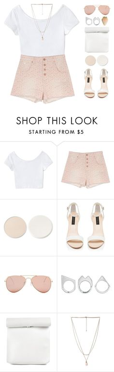 """""""ade's 3k set challenge// set 3"""" by via-m ❤ liked on Polyvore featuring Love 21, Band of Outsiders, Stila, Forever New, Betsey Johnson, Moratorium, Forever 21, white, Pink and summer2016"""