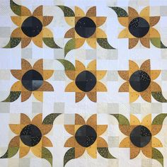 Here's 's beautiful Soak Up the Sun quilt from the book Mini Wonderful Curves! 😃💛🌼 I had the privilege of quilting it for her… Quilt Blocks Easy, Strip Quilts, Quilting Projects, Quilting Designs, Drunkards Path Quilt, Asian Quilts, Sunflower Quilts, Fall Quilts, Quilt Block Patterns