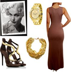 """Vintage Glamour"" by evidently ❤ liked on Polyvore"