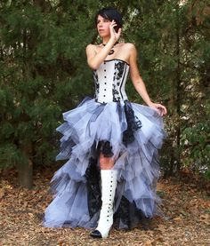 French homemade wedding dress.