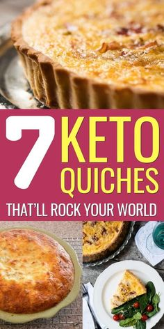 These keto quiche recipes are not only low-carb, they're also tasty as hell! Crustless, Lorraine, sausage, bacon and more keto quiches are waiting for you. Keto Quiche, Low Carb Quiche, Bacon Quiche, Quiche Crustless, Quiche Cups, Breakfast Plate, Breakfast Quiche, Bacon Breakfast, Breakfast On The Go