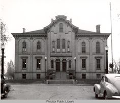 Windsor's City Hall....Originally completed in 1873 as the Central School, this building became Windsor's second City Hall in 1904. It was demolished in 1956 to make way for the current City Hall.
