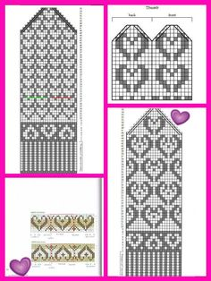 Knitting Charts, Knitting Stitches, Knitting Socks, Free Knitting, Baby Knitting, Knitting Patterns, Knit Socks, Crochet Mittens, Free Crochet