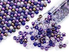 Artbeads Punchy Purples Designer Blend, 8/0 TOHO Round Seed Beads