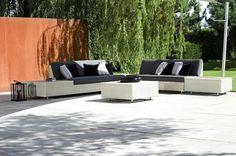 Fusion Sofa + CT Sfeer_kl Outdoor Sofa, Outdoor Living, Outdoor Furniture Sets, Outdoor Decor, Lounge, Showroom, Outdoor Gardens, Patio, Table