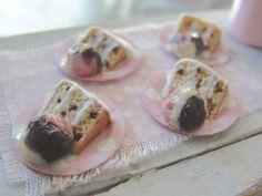 Dollhouse miniatures cake and ice cream by Kimsminibakery on Etsy