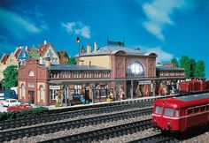 Faller 110115 Railway Station Mittelstadt # New Original Packaging for sale online Ho Scale Buildings, Breezeway, Boxes For Sale, Black Forest, Train Station, Model Trains, The Row, Mansions, House Styles