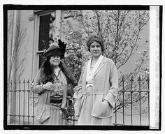 Mrs. O.H.P. Belmont & Miss Clare Boothe (28 Apr 1923). Alva Belmont hired Boothe to work for the National Women's Party in D.C. and Seneca Falls, NY. Miss Boothe married (Aug 1923) George Tuttle Brokaw and later (Nov 1935) Henry Robinson Luce, publisher of Time, LIFE and Fortune magazines. Clare Boothe Luce was a Member of Congress (1943-1947) and later US Ambassador to both Italy (1953-1956) and Brazil (1959). She was named a Dame of Malta by the Catholic Church.