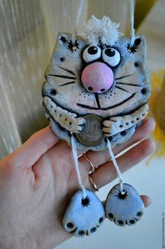 Polymer Clay Miniatures, Polymer Clay Crafts, Diy Clay, Porcelain Clay, Ceramic Clay, Cold Porcelain Ornaments, Clay Cats, Clay Art Projects, Diy Crafts For Adults