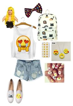 """Emoji! lol idk, super bored, sorry I have not been on for a while, oops"" by young-volcanoes-74 ❤ liked on Polyvore featuring Del Toro"