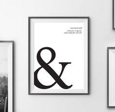 Art Digital Print Poster 'Ampersand' Typography by ArtCoStore