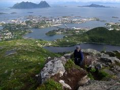 Svolvaer and the Norwegian Sea from Kongstinden.