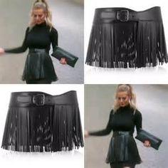 897111c3343 Rhbh Dorit wearing black fringe belt