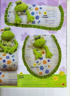 Result image for bathrooms frogs Crafts To Sell, Diy And Crafts, Sewing Projects, Projects To Try, Frog Crafts, Soft Sculpture, Bathroom Sets, Diy Storage, Bad