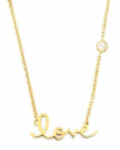 Y1KQL SHY by Sydney Evan Love Pendant Bezel Diamond Necklace