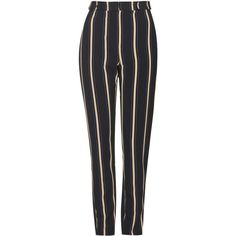 TopShop Stripe Print Cigarette Trousers (€50) ❤ liked on Polyvore featuring pants, bottoms, trousers, multi, striped pants, topshop, striped trousers, tapered pants and cigarette pants