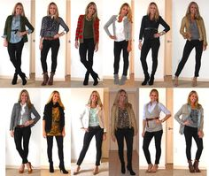 Black skinny jean outfit ideas