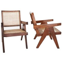 Easy Armchairs by Pierre Jeanneret, Set of Two, circa 1950s 1